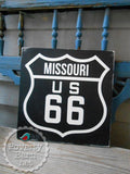 Route 66 Hand Painted Wood Box Style Sign -Box Style Signs -PovertyBarn - 5