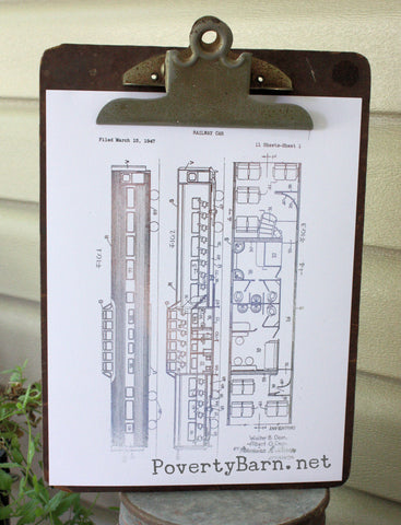 Sleeper Car Patent Image Foil Print -Foil Print -PovertyBarn - 1