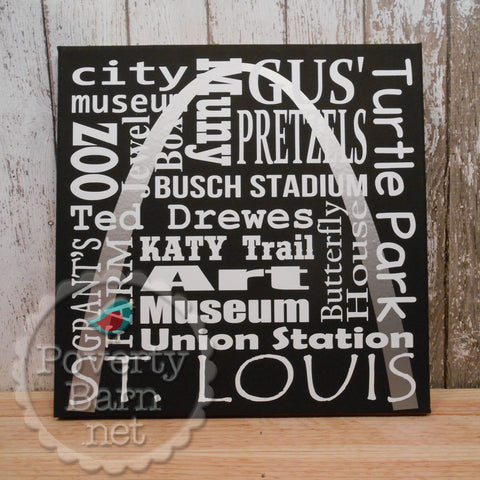 St. Louis Places Canvas Design -Canvas Designs -PovertyBarn - 1