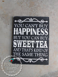 Sweet Tea and Happiness Hand Painted Wood Box Style Sign -Box Style Signs -PovertyBarn - 5