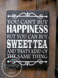 Sweet Tea and Happiness Hand Painted Wood Box Style Sign -Box Style Signs -PovertyBarn - 1