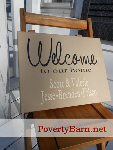 Personalized Welcome Canvas Design -Canvas Designs -PovertyBarn