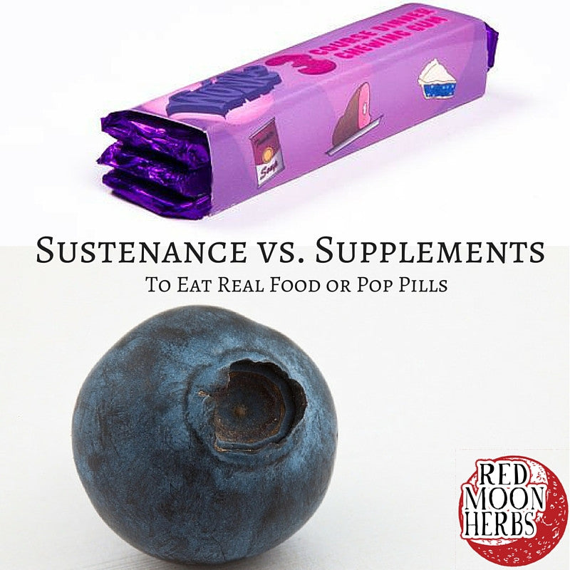 Sustenance vs. Supplements: To Eat Real Food or Pop Pills