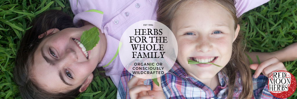 Herbs for the Whole Family organic or consciously wildcrafted