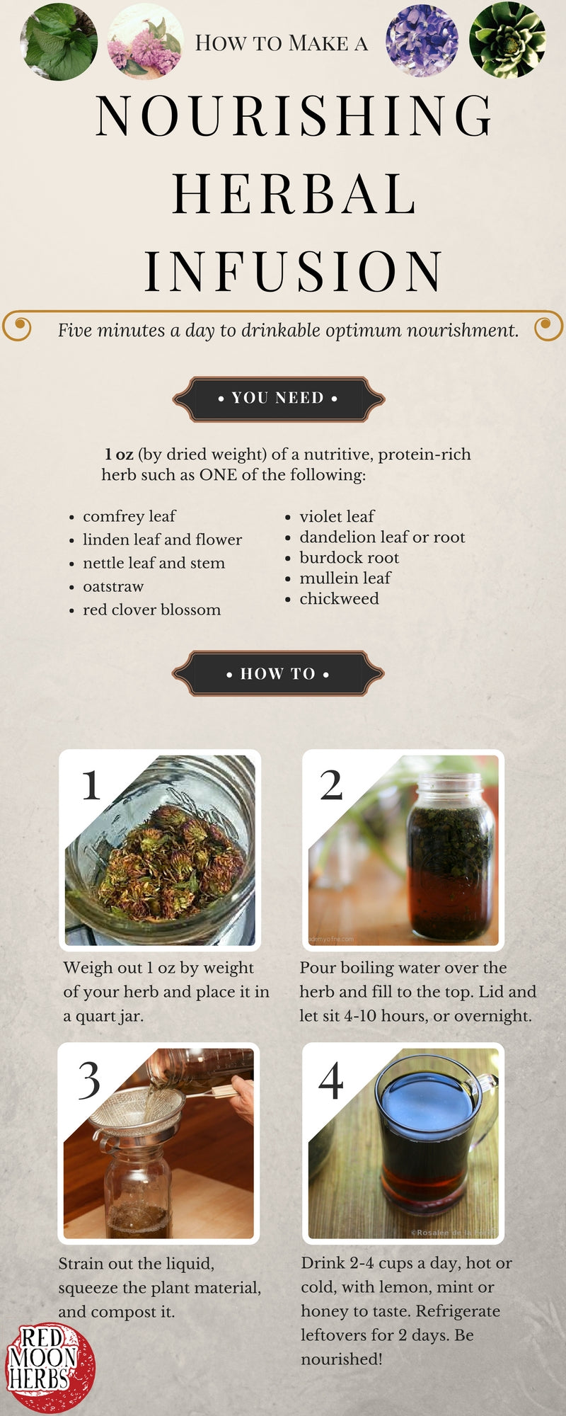 Nourishing Herbal Infusion Recipe