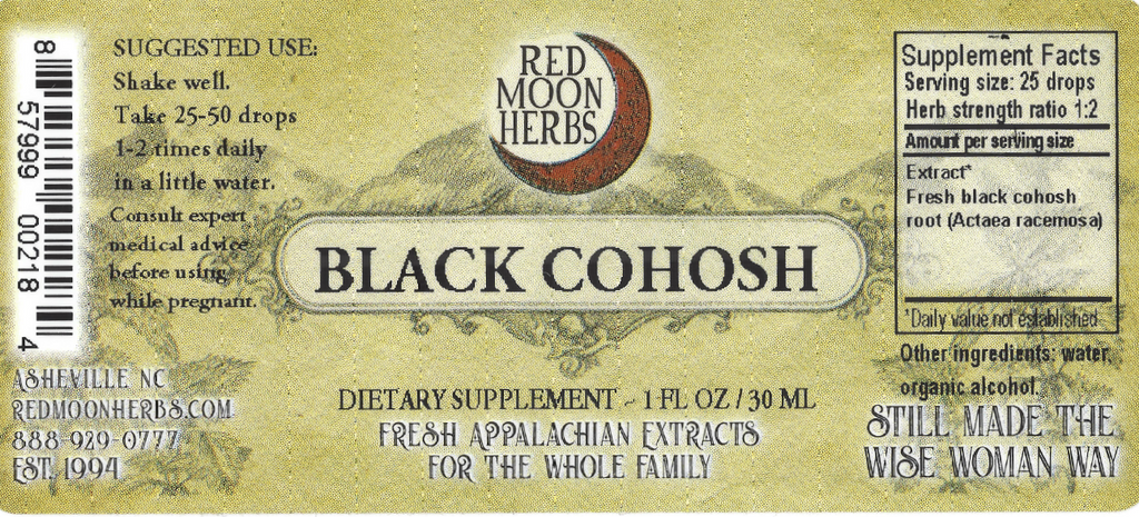 Black Cohosh (Actaea racemosa) Suggested Dosage and Supplement Facts