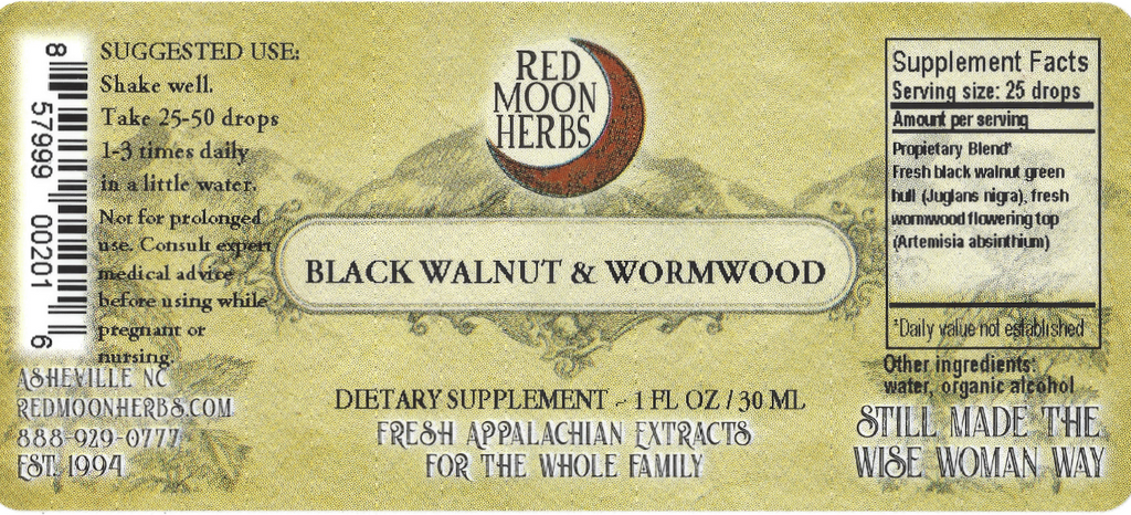 Black Walnut and Wormwood Herbal Extract Blend for Parasite Health Suggested Dosage and Supplement Facts