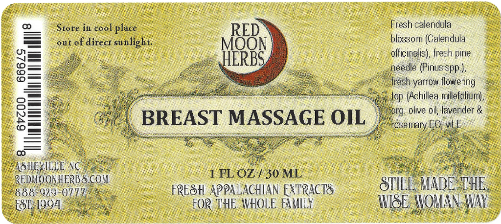 Breast Massage Herbal Oils of Calendula, Pine, and Yarrow Suggested Use and Ingredients