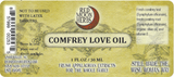 Comfrey Root and Leaf Herbal Infused Oil Suggested Use and Ingredients