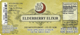 Elderberry Elixir Syrup Suggested Dosage and Supplement Facts