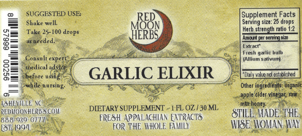 Garlic Elixir Honey Herbal Extract Suggested Dosage and Supplement Facts