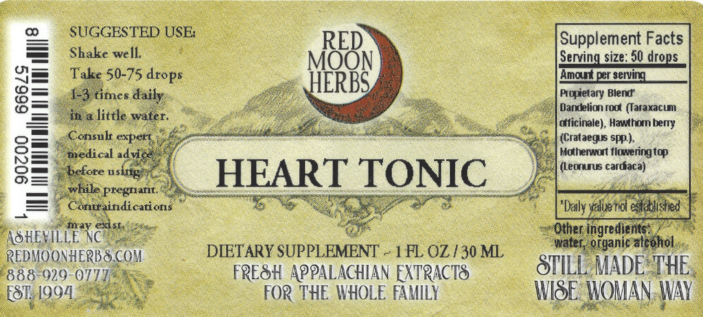 Heart Tonic with Dandelion, Hawthorn Berry, and Motherwort Suggested Dosage and Supplement Facts