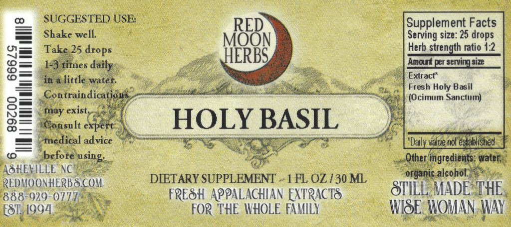 Holy Basil Tulsi (Ocimum sanctum) Herbal Extract Suggested Dosage and Supplement Facts