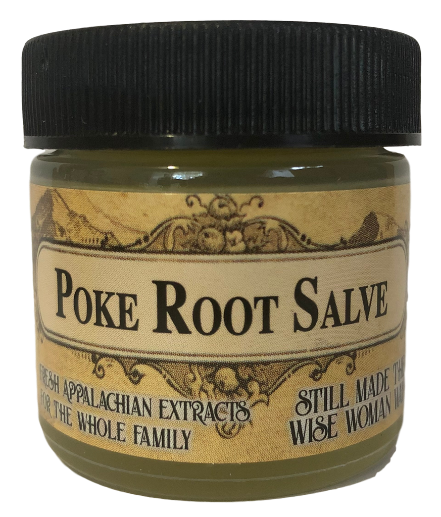 Fresh Poke Root (Phytolacca americana) Herbal Salve for Skin Health, Growths, and Cysts