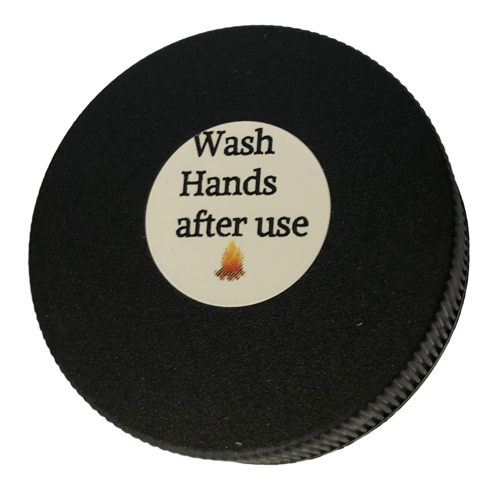 Wash Hands After Use Warning Label on Re-Leaf Herbal Pain Salve
