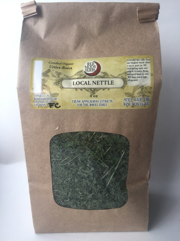 Nettle (Urtica dioica) Dried Tea Herb for Allergies, Adrenals, and Wellness