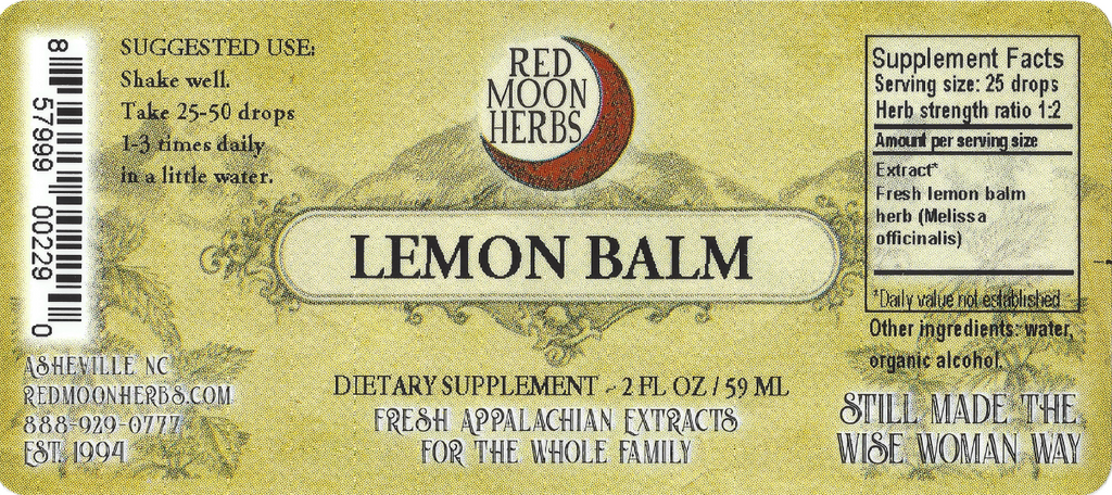 Lemon Balm (Melissa officinalis) Herbal Extract Suggested Dosage and Supplement Facts