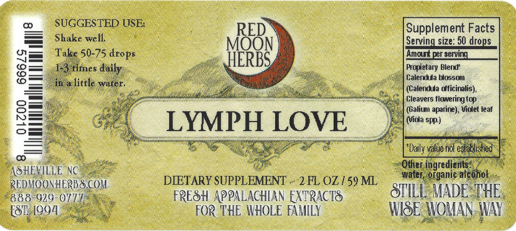 Lymph Love Herbal Extract with Calendula, Cleavers, and Violet Suggested Dosage and Supplement Facts
