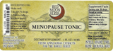 Menopause Tonic of Vitex, Black Cohosh, and Hawthorn Berry Herbal Extract Suggested Dosage and Supplement Facts