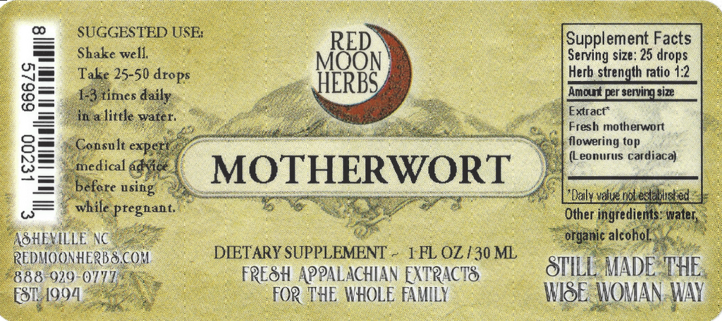 Motherwort (Leonurus cardiaca) Herbal Extract Suggested Dosage and Supplement Facts