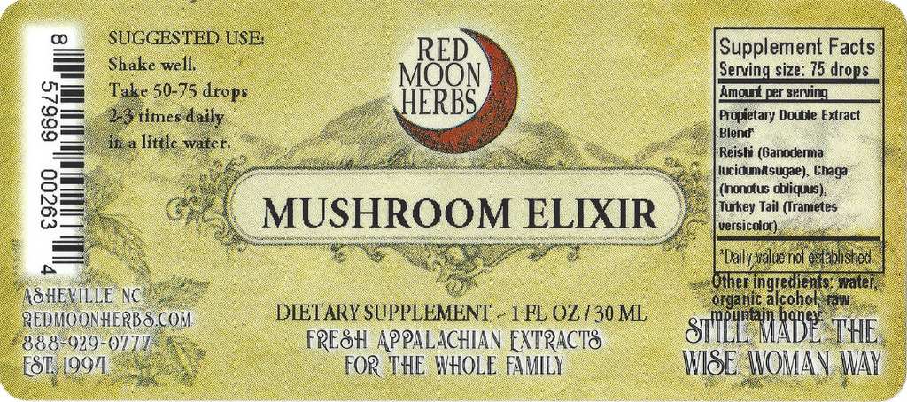 Medicinal Mushroom Elixir of Reishi, Chaga, and Turkey Tail Adaptogen Herbal Extract Suggested Dosage and Supplement Facts