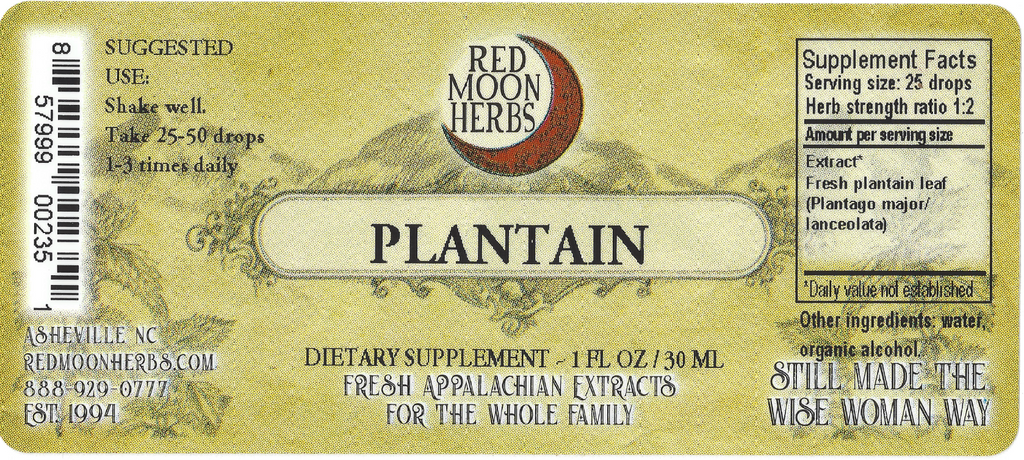 Plantain (Plantago major/lanceolata) Herbal Extract Suggested Dosage and Supplement Facts