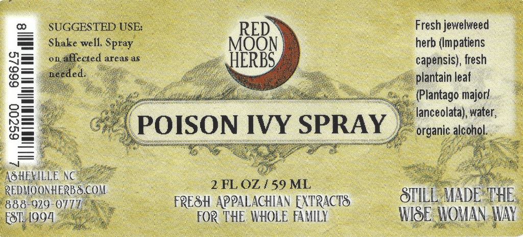 Poison Ivy Herbal Spray with Jewelweed and Plantain Preventative and Treatment Suggested Uses and Ingredients
