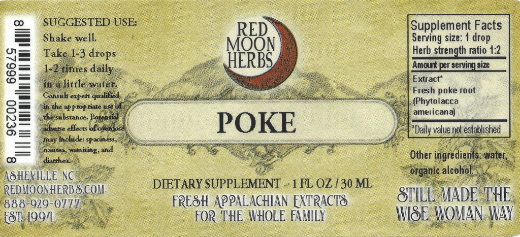 Poke Root (Phytolacca americana) Herbal Extract Suggested Dosage and Supplement Facts