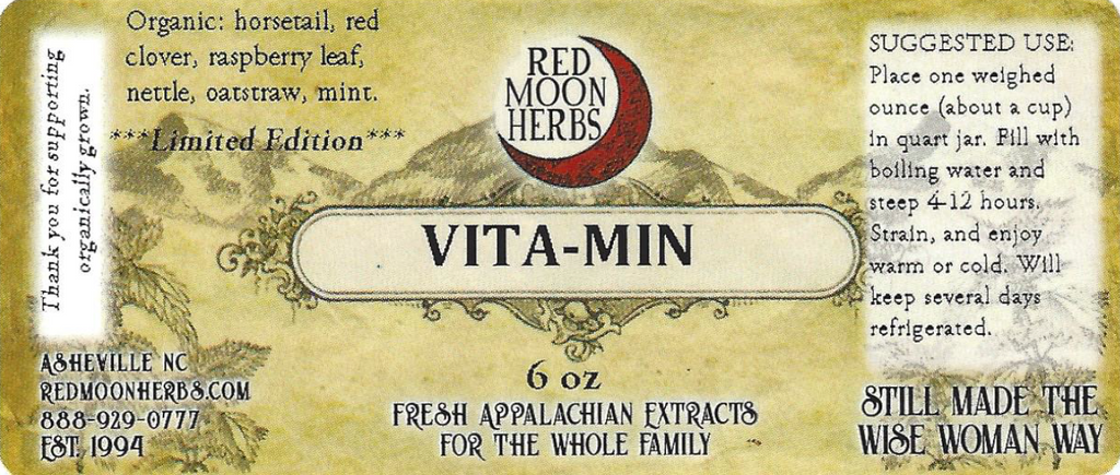 Vita-Min Herbal Multivitamin Tea Suggested Use and Ingredients