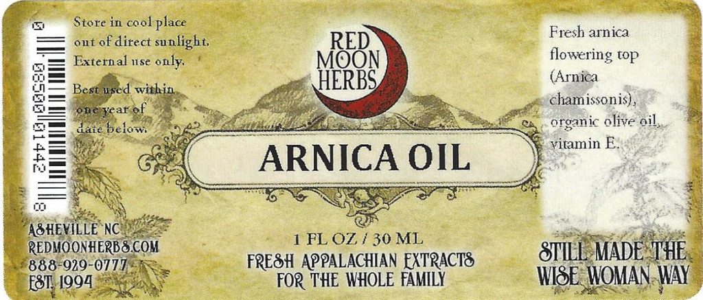 Arnica (Arnica chamissonis) Herbal Oil Suggested Use and Ingredients