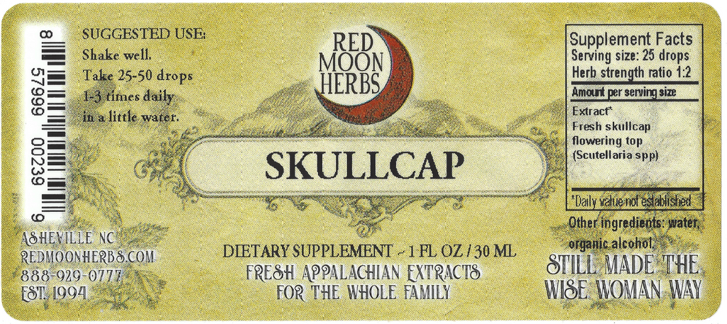 Skullcap (Scutellaria spp.) Herbal Extract Suggested Dosage and Supplement Facts
