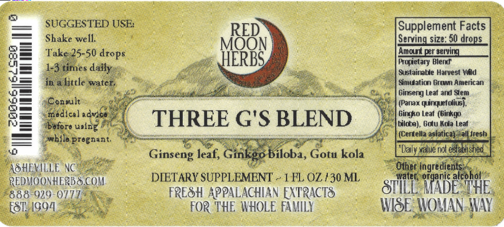 Three G's Brain Tonic of Ginseng, Ginkgo, and Gotu Kola Herbal Extract Suggested Dosage and Supplement Facts