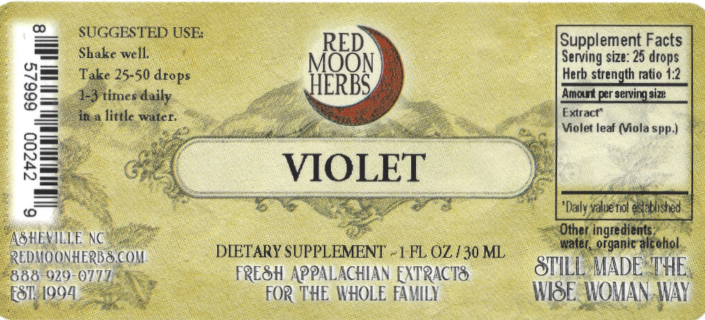 Violet (Viola spp.) Herbal Extract Suggested Dosage and Supplement Facts