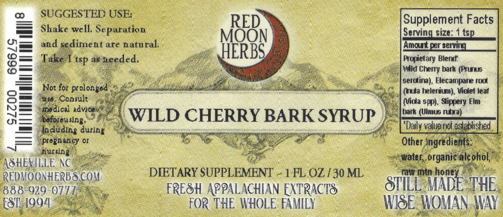 Wild Cherry Bark Syrup Herbal Extract Suggested Dosage and Supplement Facts
