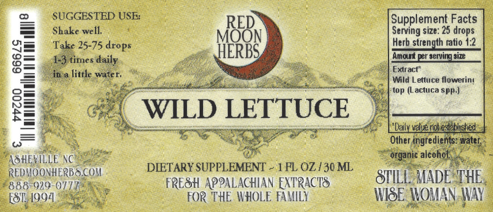 Wild Lettuce (Lactuca spp.) Herbal Extract Suggested Dosage and Supplement Facts