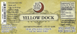 Yellow Dock (Rumex obtusifolius/crispus) Suggested Dosage and Supplement Facts