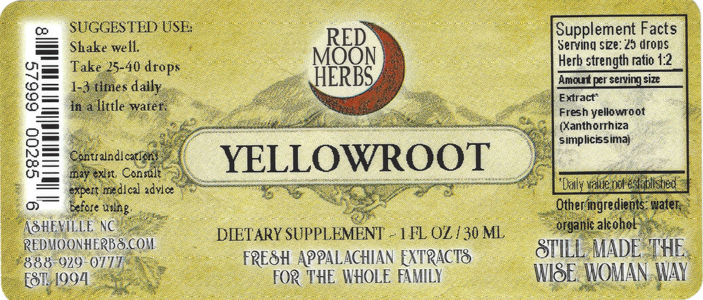 Yellowroot (Xanthorrhiza simplicissima) Herbal Extract Suggested Dosage and Supplement Facts