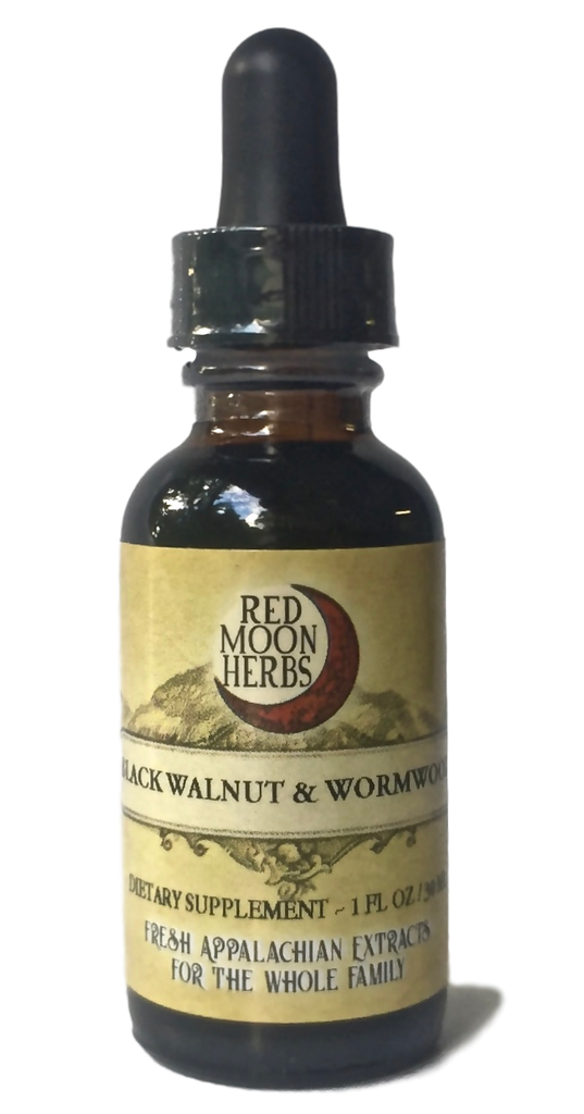 Black Walnut & Wormwood Blend Herbal Extract Bottle for Parasite Health