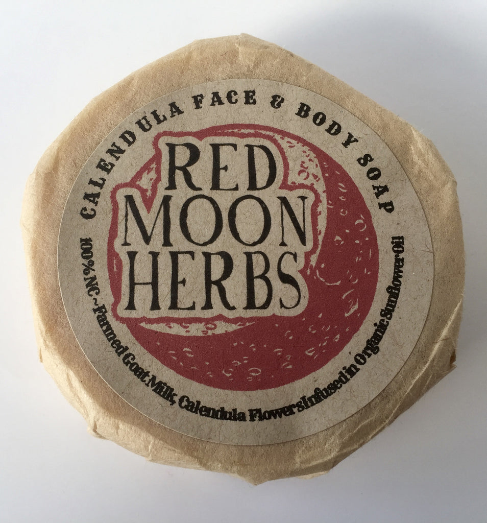 Calendula Face and Body Soap-Salves & Oils-Red Moon Herbs