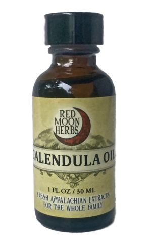 Calendula (Calendula officinalis) Herbal Oil Bottle for Skin and Lymph Health