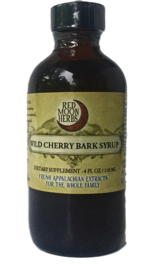 Wild Cherry Bark Syrup Herbal Extract for Respiratory Support, Coughs, Flus, and Colds