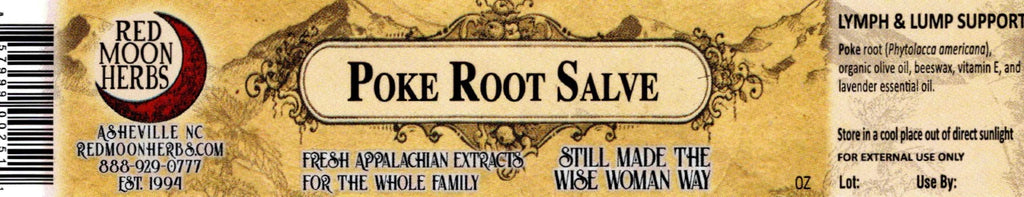 Organic Poke Root Herbal Healing Salve for Lymph and Lump Support Ingredients