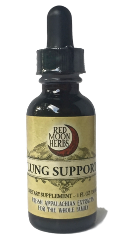 Lung Support Herbal Extract with Elecampane, Horehound, and Plantain-Extracts-Red Moon Herbs