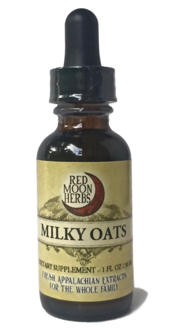 Milky Oats (Avena sativa) Herbal Extract Bottle for Nervous System Adrenal Health Stress