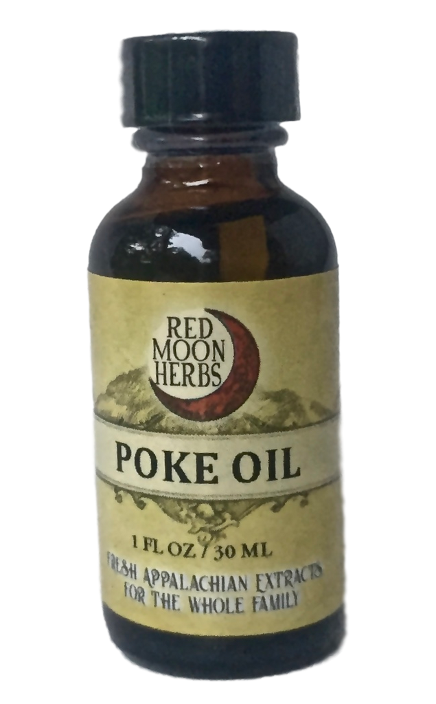 Poke Root (Phytolacca americana) Herbal Infused Oil for Lymph and Immune Health