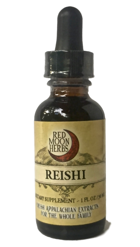 Reishi Medicinal Mushroom (Ganoderma lucidum/tsugae) Herbal Extract for Immune Health, Stress, and Longevity