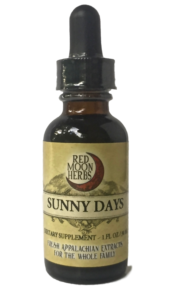 Sunny Days Herbal Extract of Lemon Balm, Motherwort, and St. John's Wort for Depression, Mood Disorders, and Mental Health