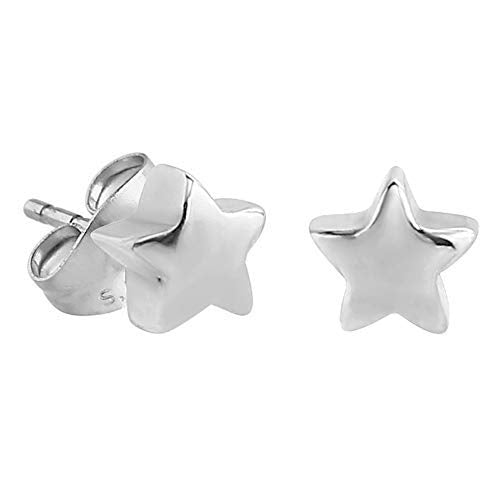 Sterling Silver XS Tiny Star Stud Earrings