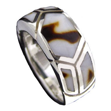 Sterling Silver Sea Shell Inlay Ring