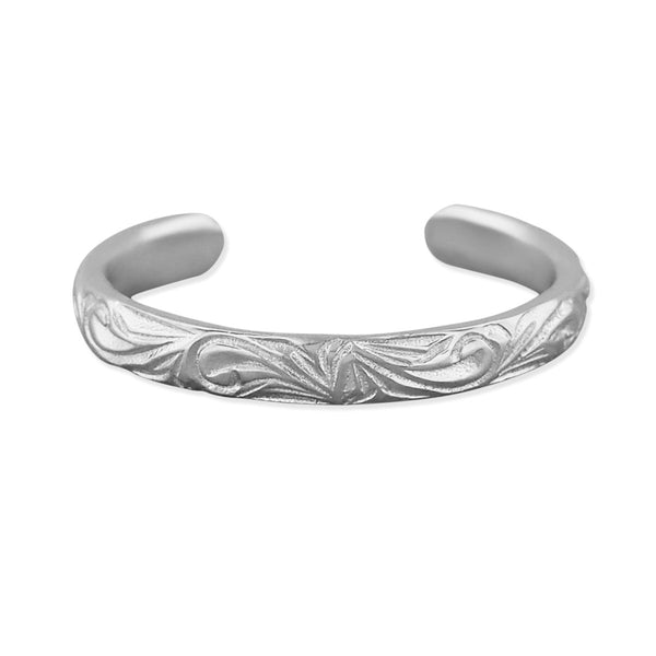 Sterling Silver 2mm Hawaiian Band Toe Ring